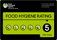 Betsy Belle Events, Dungannon: Food Standards Agency Hygiene Rating 5/5.